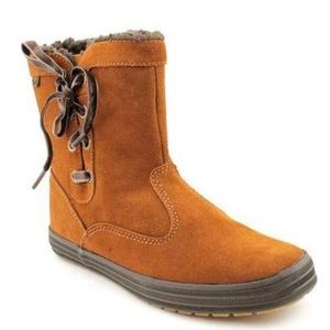 Keds Sunnyside Brown Faux Fur Winter Ankle Boots